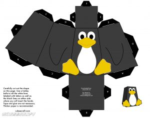 Paper toy animaux le pingouin