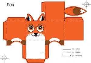 Paper toy animaux Renard
