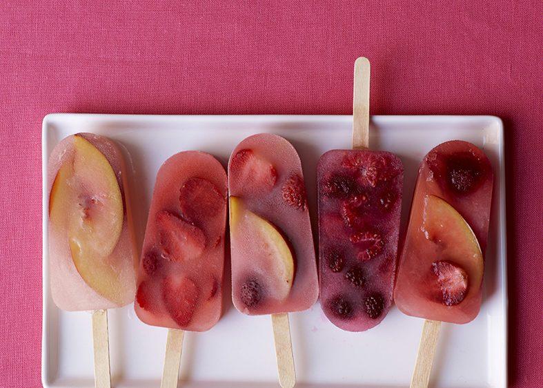 recette glace à l'eau maison aux fruits