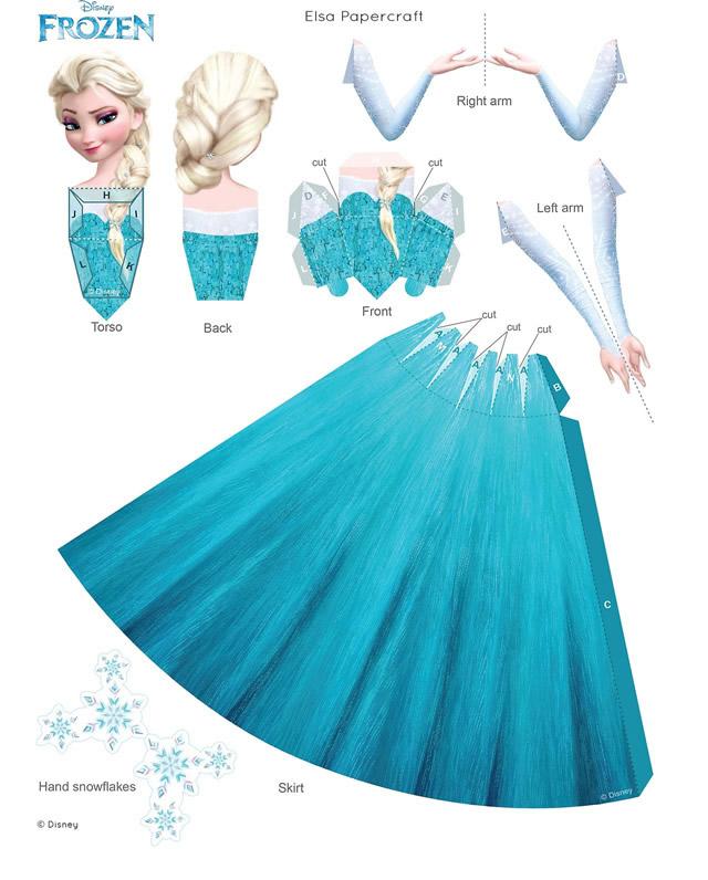 paper toy Elsa Reine des Neiges à imprimer