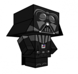 paper toy star wars Dark Vador