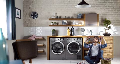 LAVE LINGE DE COULEUR GRIS MANHATTAN GREY
