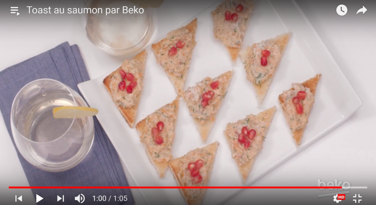 Toasts au saumon