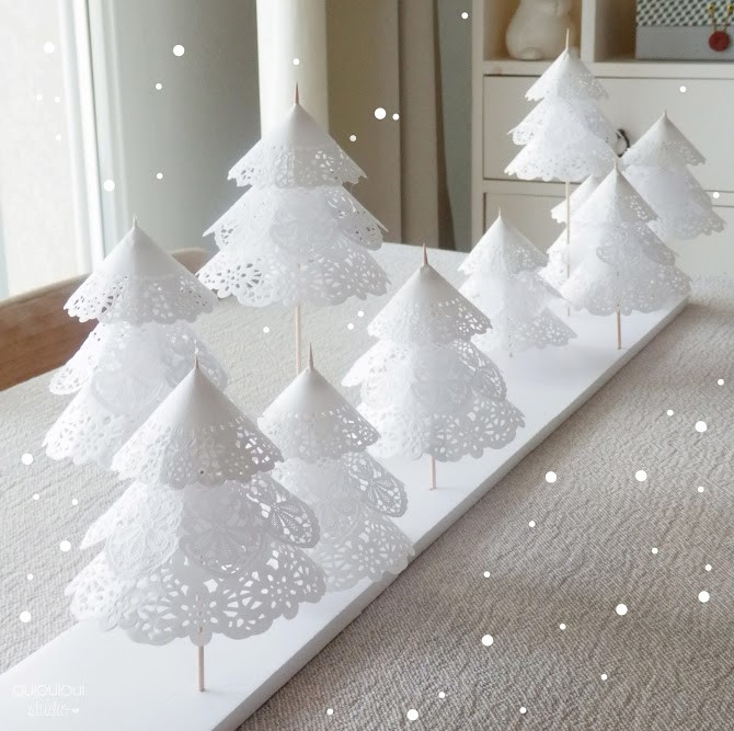 DIY deco de noel centre de table delicat