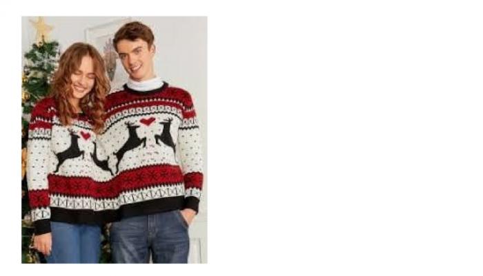 pull couple noel ☃ Où acheter un pull moche de Noël kitsch à souhait ? I Blog Ma  pull couple noel