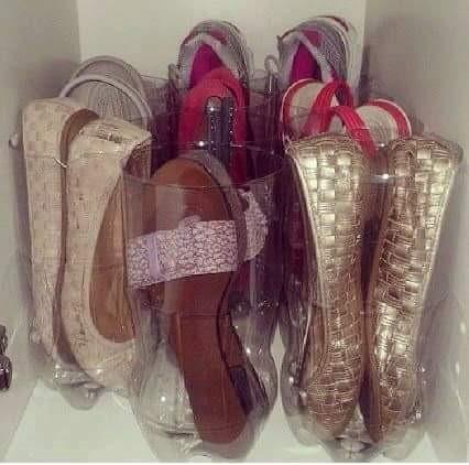 recup-bouteille-plastique-diy-idee-rangement-chaussure