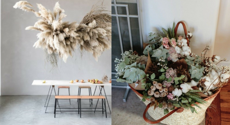 fleurs s ch es comment composer un joli bouquet pour. Black Bedroom Furniture Sets. Home Design Ideas