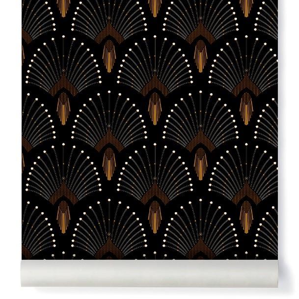 papier peint noir elegant et tendance