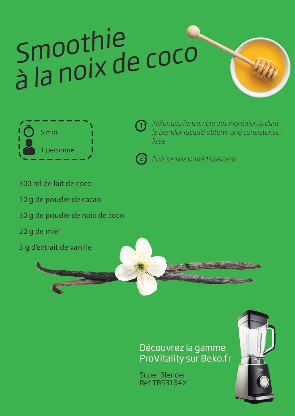Smoothie noix de coco