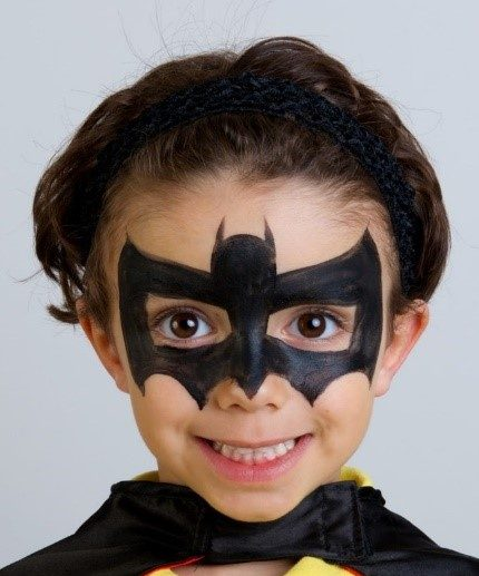 modele maquillage de batman facile pour enfant