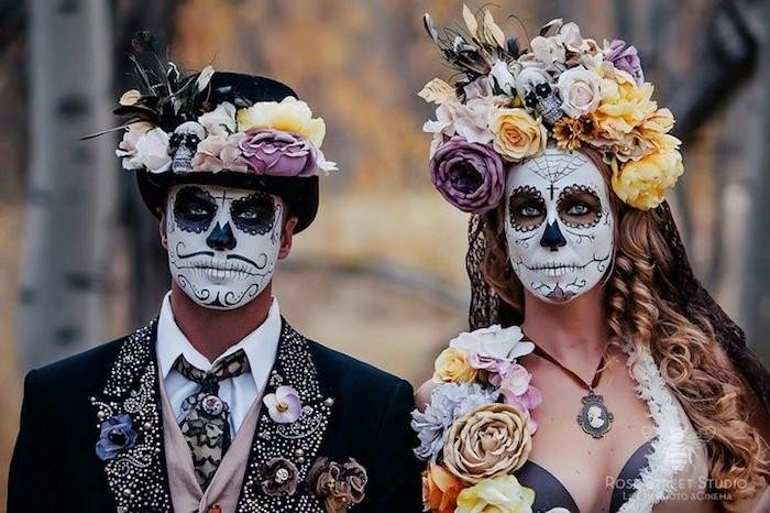 maquillage d'halloween pour deguisement de couple
