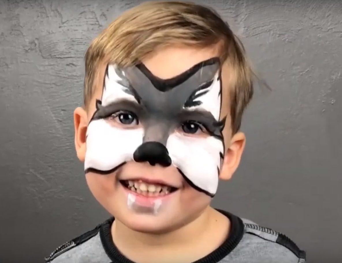 modele de maquillage de loup pour enfant