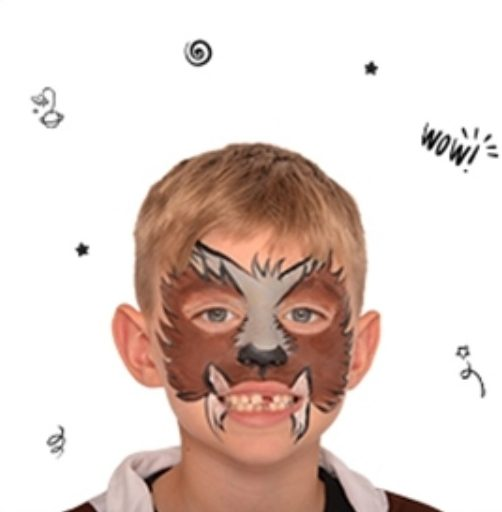 maquillage enfant halloween loup garou