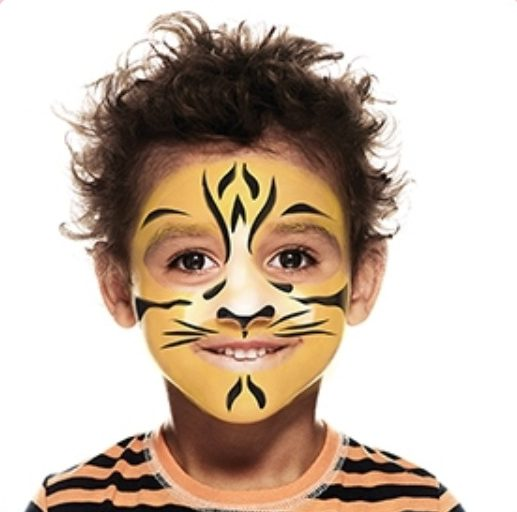 maquillage de tigre modele