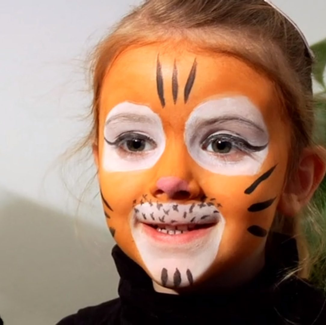 maquillage de tigre facile enfant