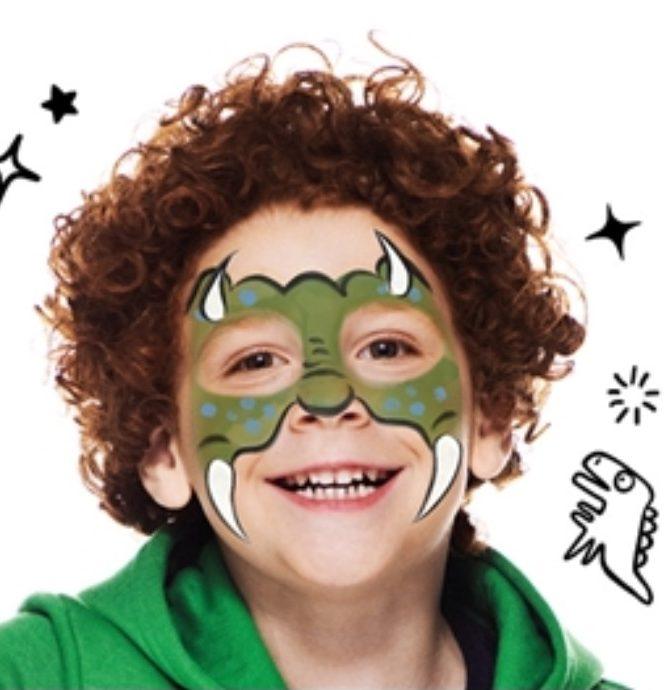 modele maquillage de dinosaure facile pour enfant